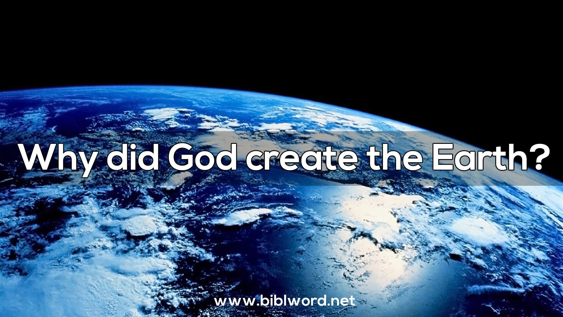 why god made the world The short answer that resounds through the whole bible like rolling thunder is:  god created the world for his glory we'll talk in a moment what.