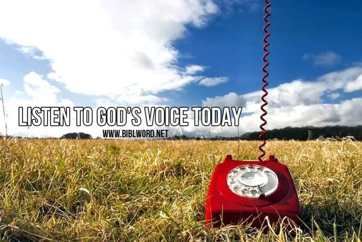 Listen to God's voice