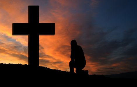 Kneel by the cross