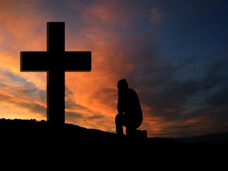 Kneel by the cross