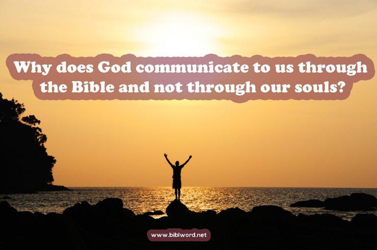 God communicating throught bible