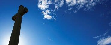 Cross and blue sky