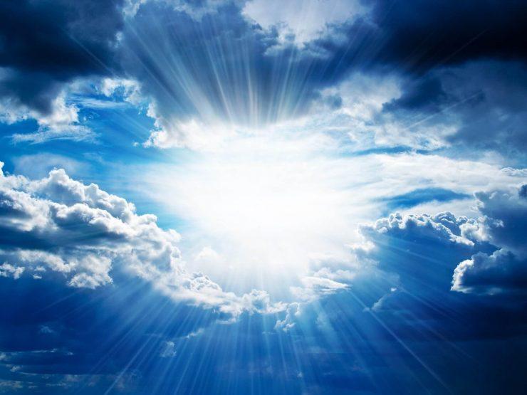 Zon en wolken