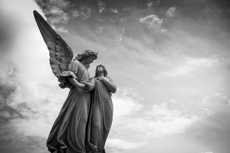 What does it mean that angels are ministering spirits?