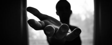Man's hand in shallow focus