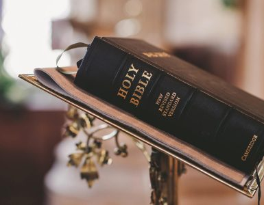 black-holy-bible-on-pulpit