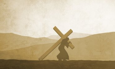 What is the weight of the cross that Jesus carried?