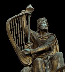 bronze-statue-of-David-playing-harp
